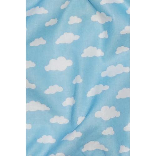 Tissu Le Nuage Bleu - Doudou pour Garçon de Fabrication Française
