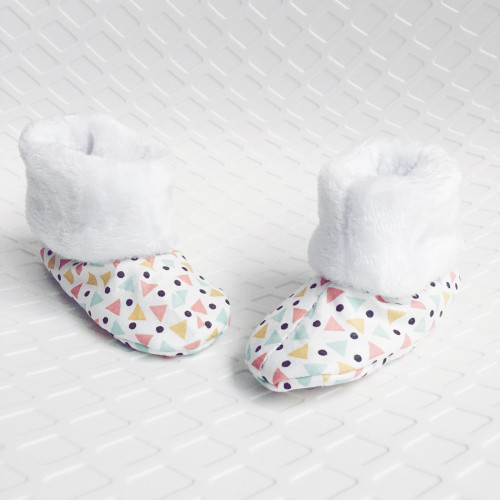 Chaussons hauts Botton Funky - Cadeau de Naissance Made in France