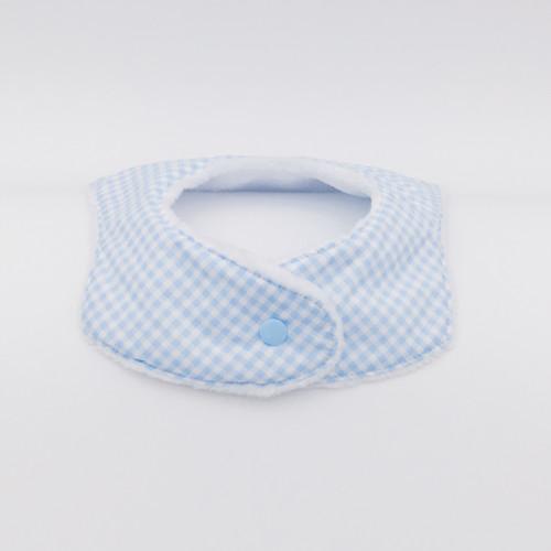 Clip Bandana Bib Le Vichy Bleu Made in France