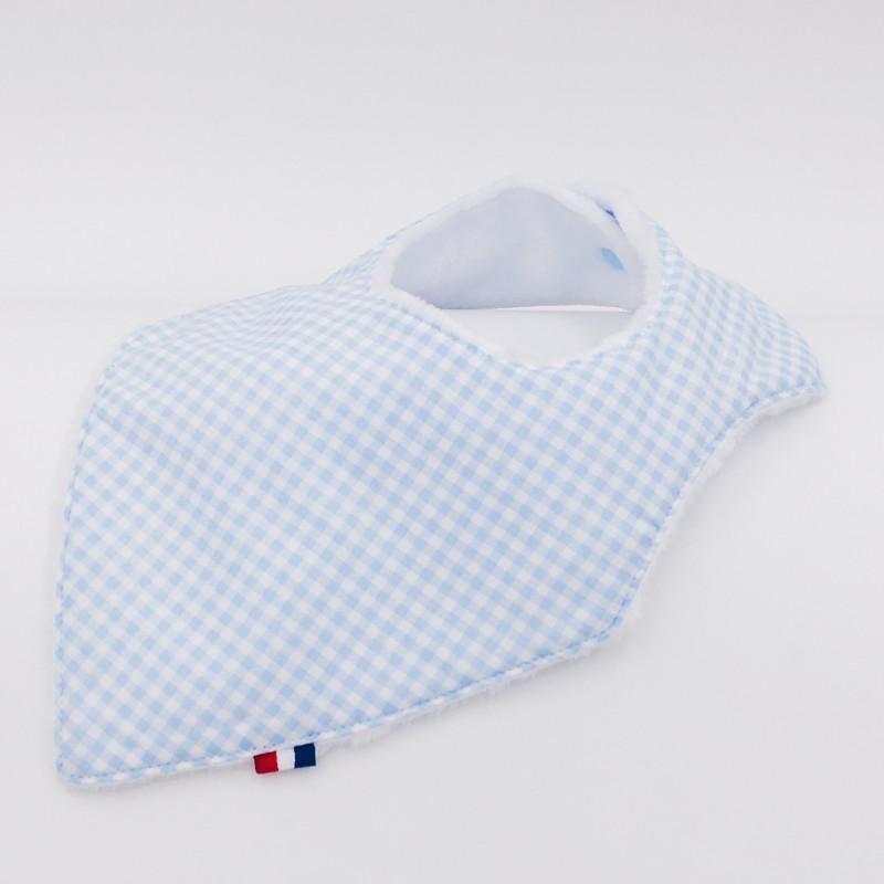 Bandana Bib Le Vichy Bleu Made in France