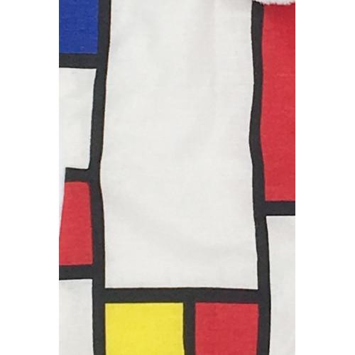 Tissu Doudou Le Mondrian - Made in France