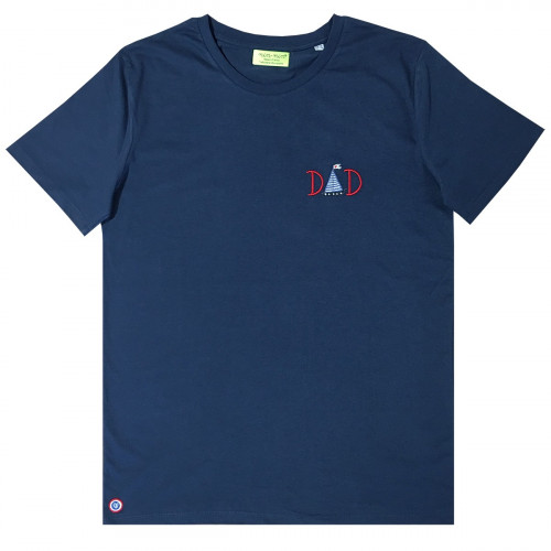 "T-SHIRT HOMME ""DAD"" NAVY MADE IN FRANCE"