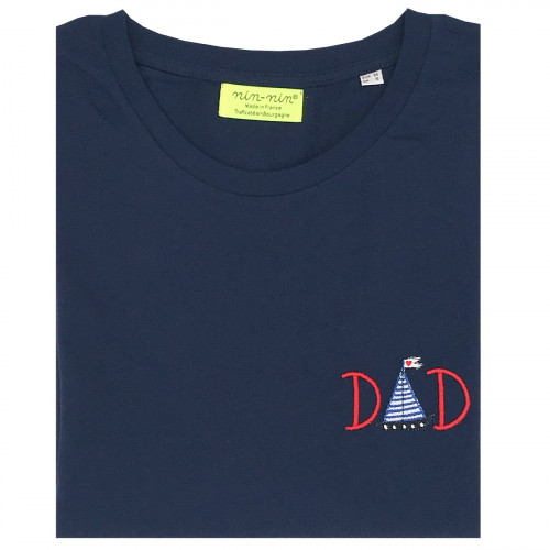 "T-SHIRT HOMME ""DAD""  NAVY"
