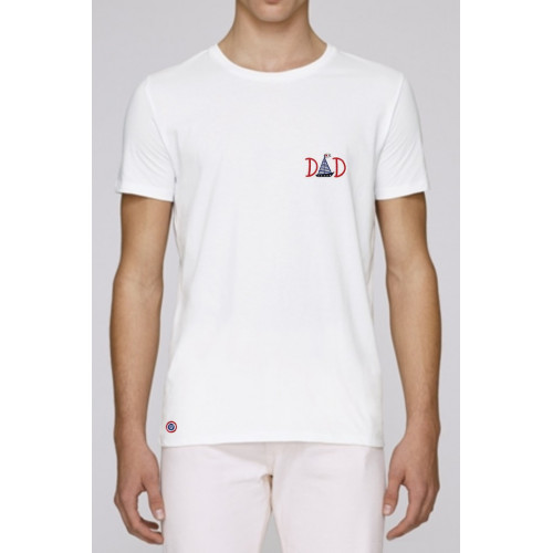 "T-SHIRT HOMME ""DAD"" BLANC"