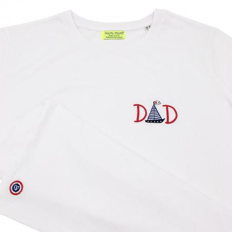 """T-SHIRT POUR PAPA """"DAD"""" BLANC"""