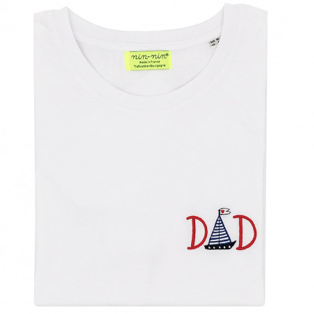 "T-SHIRT HOMME ""DAD"" BLANC"