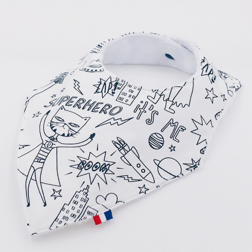 Bandana Birth Gift Baby Comforter + Bandana Bib SuperHero