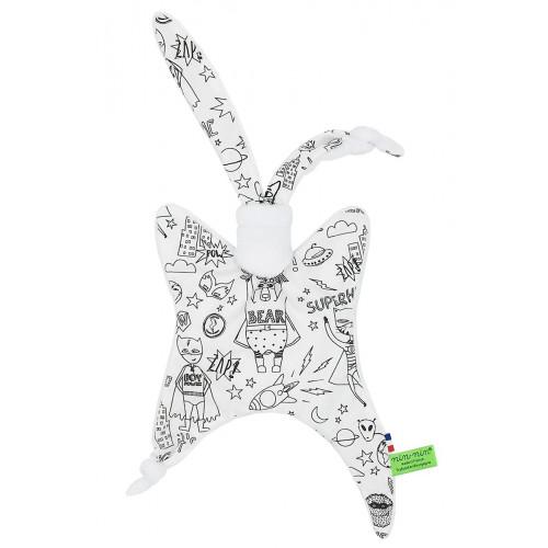 Soft Toy Birth Gift Baby Comforter + Bandana Bib SuperHero