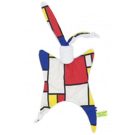 Coffret de naissance doudou Mondrian