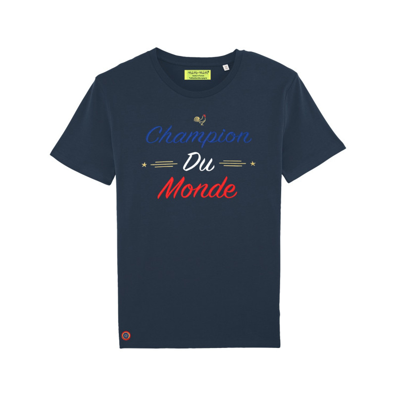 Navy Champion Du Monde Man's T-shirt