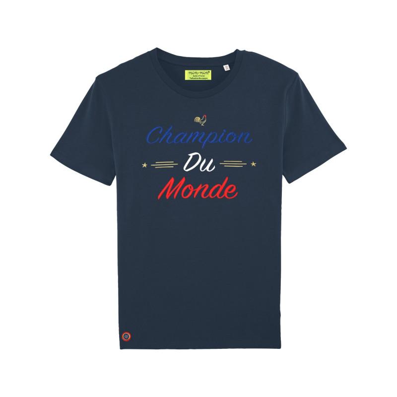 T-SHIRT HOMME CHAMPION DU MONDE NAVY