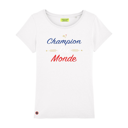 White Champion Du Monde Woman T-shirt