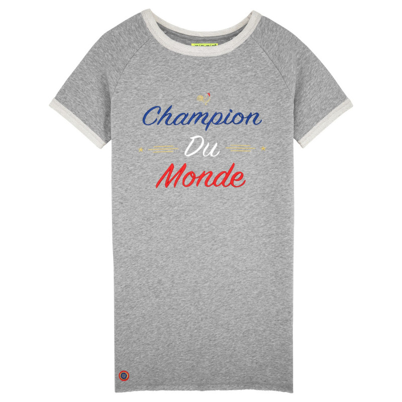 ROBE CHAMPION DU MONDE GRIS CHINE