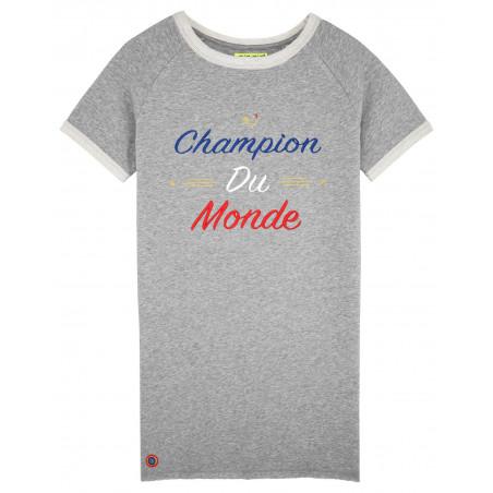 ROBE CHAMPION DU MONDE GRIS CHINE