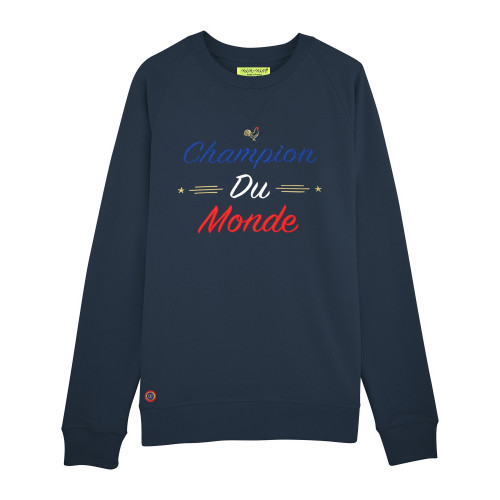 "SWEAT HOMME ""CHAMPION DU MONDE"" NAVY"