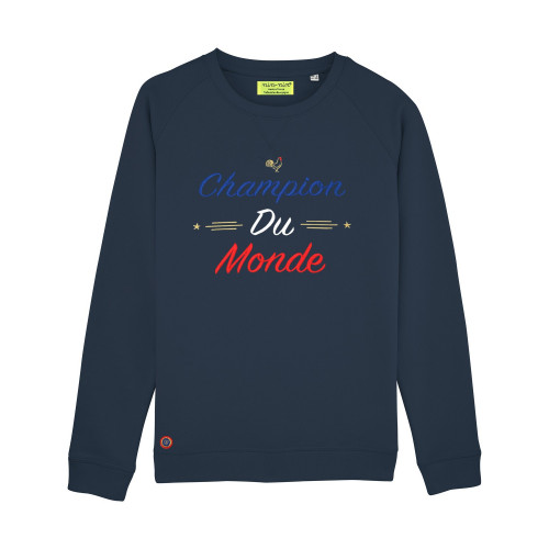 SWEAT FEMME CHAMPION DU MONDE NAVY