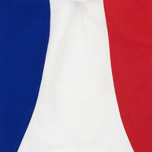 TISSU DOUDOU BLEU BLANC ROUGE LE TRICOLORE MADE IN FRANCE