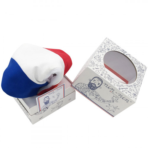 CUBE TATOUE DOUDOU BLEU BLANC ROUGE LE TRICOLORE MADE IN FRANCE