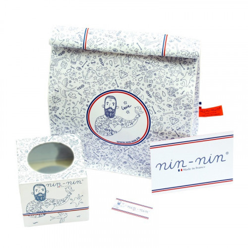 COFFRET CADEAU DOUDOU BLEU BLANC ROUGE LE TRICOLORE MADE IN FRANCE