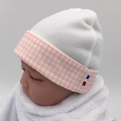 MIXED BEANIE VICHY ROSE