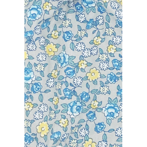 Tissu doudou Made in France Le Liberty Bleu