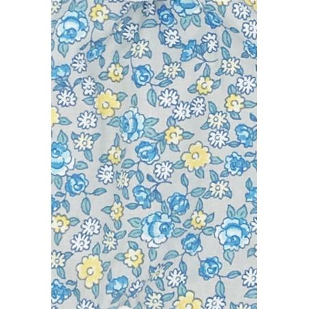 Tissu doudou Made in France Le Liberty Bleu
