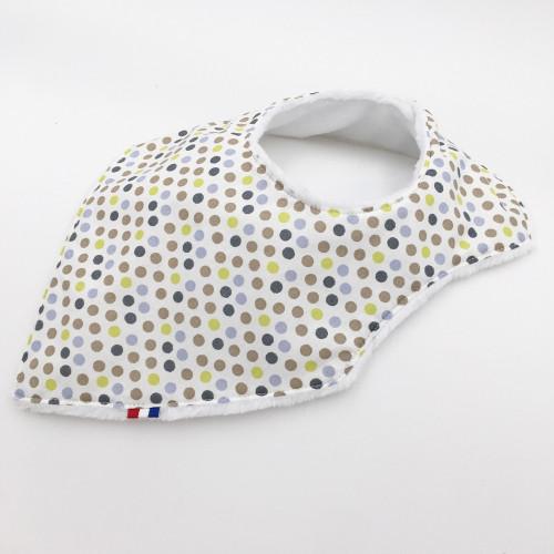 Birth Gift Baby Comforter + Bandana Bib Marinière
