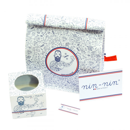 Coffret cadeau doudou Made in France Le Skieur Gris