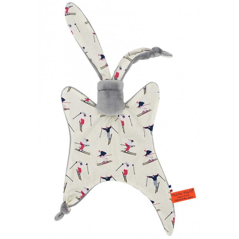 Doudou Made in France Le Skieur Gris