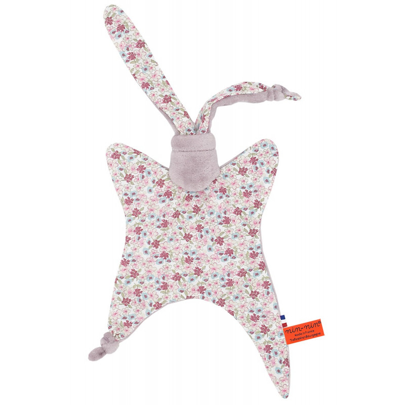 Doudou Le Liberty Parme. Cadeau de naissance original et made in France