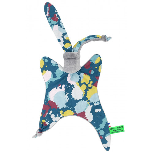 Doudou Le Splash Gris. Cadeau de naissance original et made in France