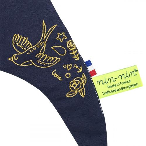 Zoom 3 doudou pour adulte Le Tatoué. Cadeau original et made in France