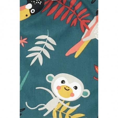 Tissu doudou Le Tropical. Cadeau de naissance original et made in France