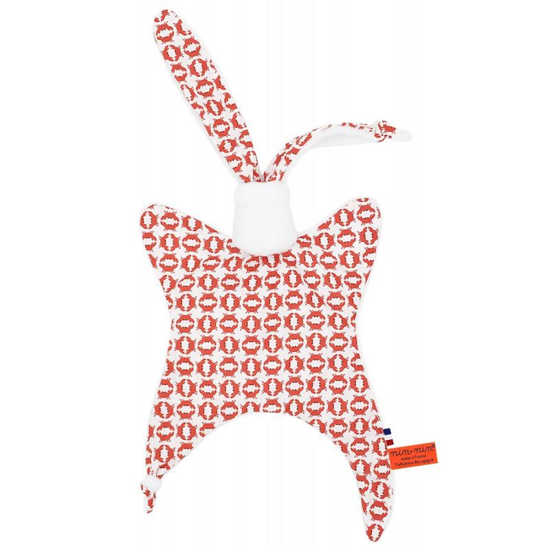 Doudou Le Crabe. Cadeau de naissance original et made in France