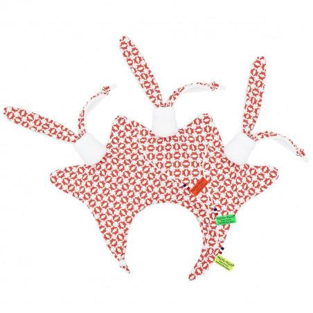 Etiquettes doudou Le Crabe. Cadeau de naissance original et made in France
