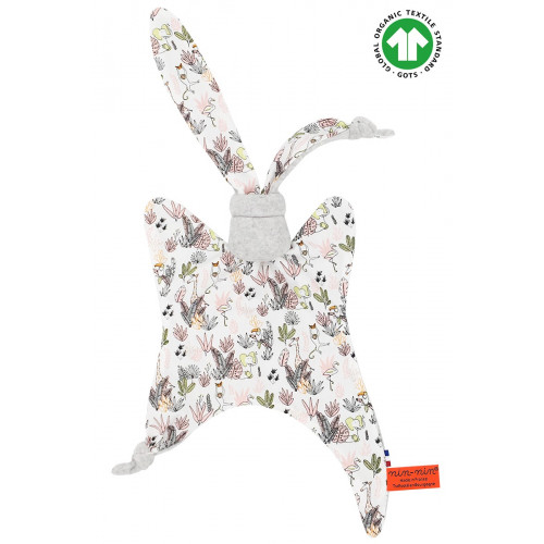Doudou Bio Le Jungle. Cadeau de naissance GOTS, original et made in France