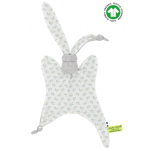 Organic baby comforter Le Jacaranda. Made in France
