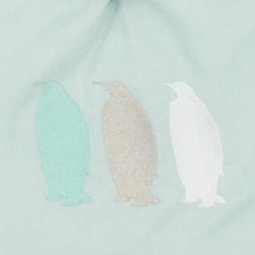 Broderie doudou pour adulte Le Pingouin Vert. Cadeau original et made in France