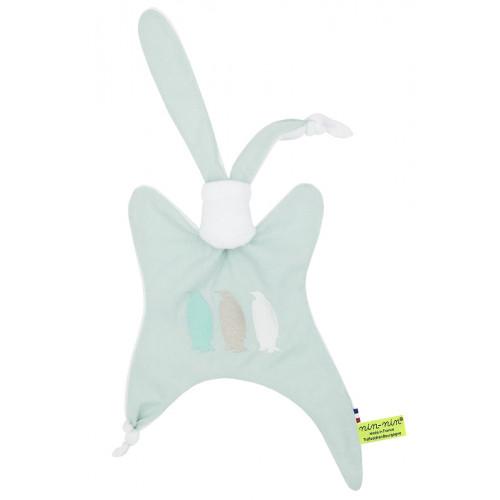 Personalised comforter The Pengouin Green