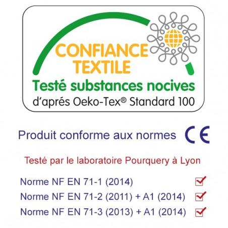 Label Oeko-Tex Doudou made in France