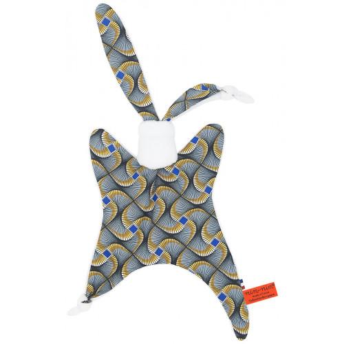 Doudou Wax personnalisable. Cadeau de naissance original et made in France