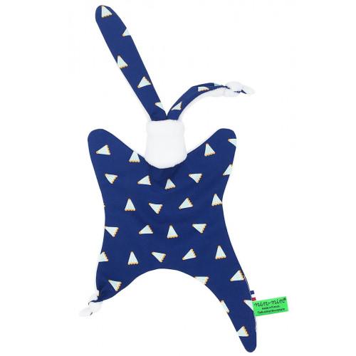 Doudou personnalisable Le Badminton. Cadeau de naissance original et made in France