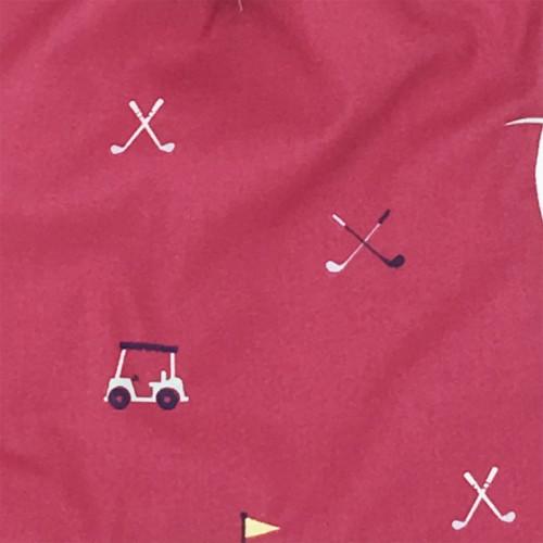 Tissu doudou personnalisable Le Golfeur. Cadeau de naissance original et made in France
