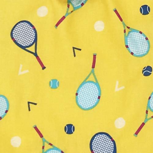 Tissu doudou personnalisable Le Roland Garros. Cadeau de naissance original et made in France