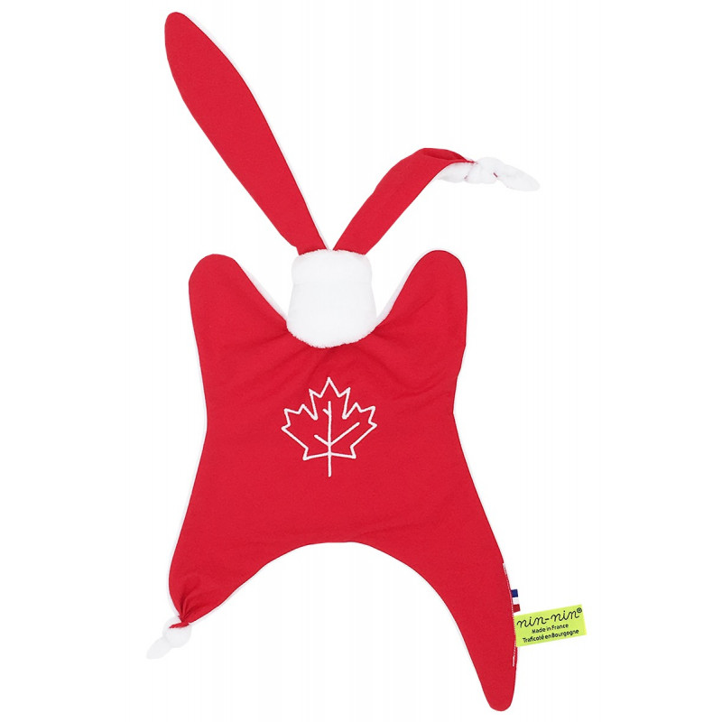 Doudou Le Canadien. Cadeau de naissance original personnalisable et made in France.