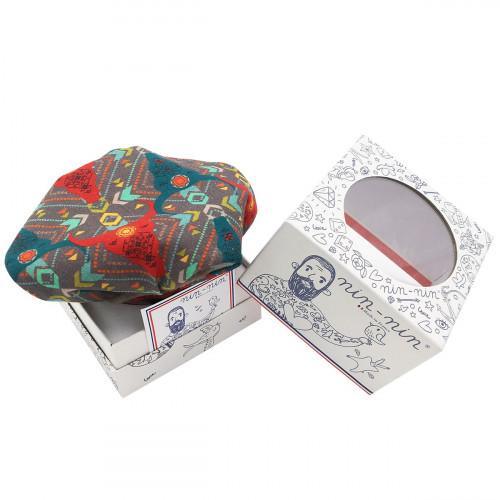 Cube doudou Zébu personnalisable. Cadeau de naissance original et made in France