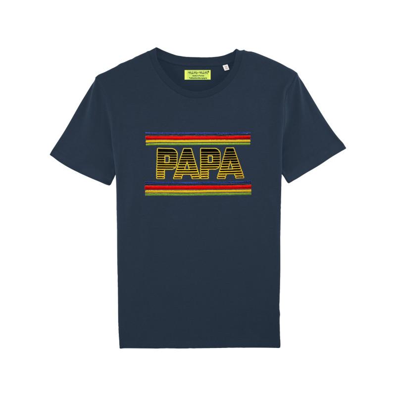 Original navy 'PAPA' man's shirt. Made in France
