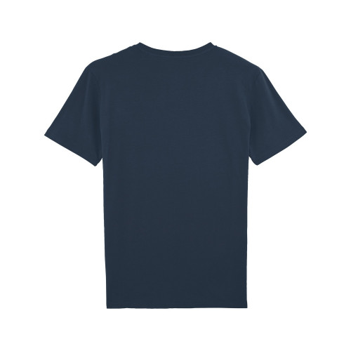 Vue de dos T-shirt brodé PAPA pour homme. Made in France.