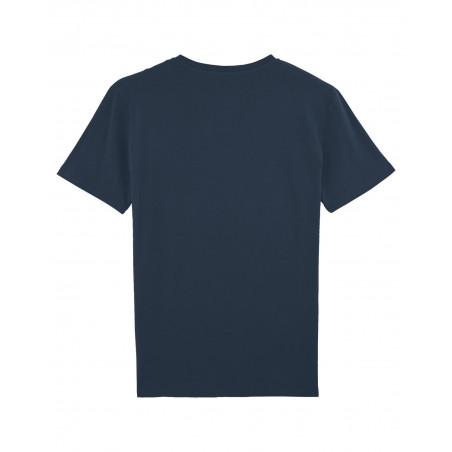 Vue de dos T-shirt brodé PAPA pour homme. Made in France.