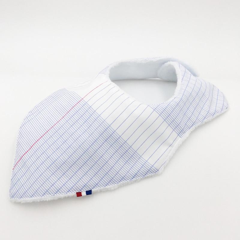 Personalised bandana bib L'intello. Original and made in France.